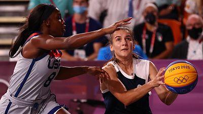 La selección femenina de Estados Unidos, campeona olímpica en baloncesto 3x3