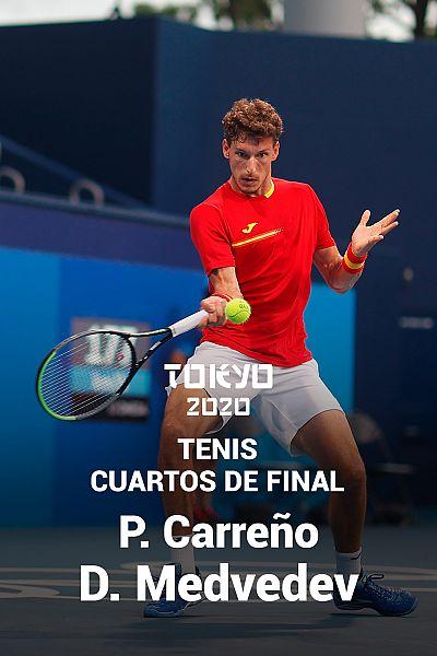 Tenis. Cuartos: P. Carreño - D. Medvedev
