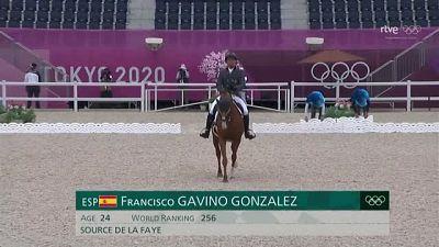Francisco Gaviño y su caballo Source de la Faye logran una puntuación de 47.50