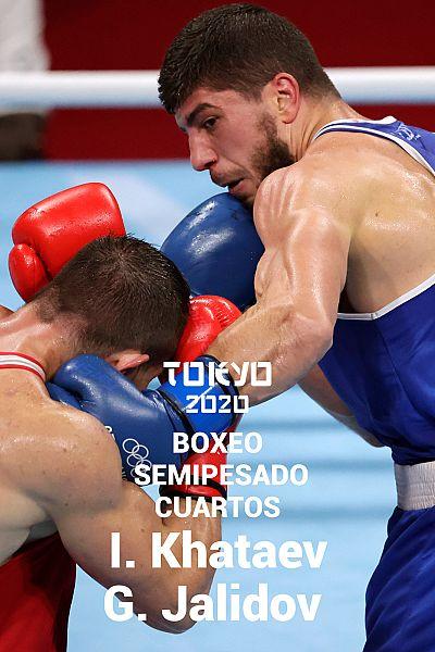 Boxeo: Semipesado. Cuartos: I. Khataev - G. Jalidov