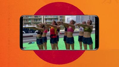 Ona Carbonell y sus compañeras de natación artística ensayan su coreografía fuera del agua - Ver ahora