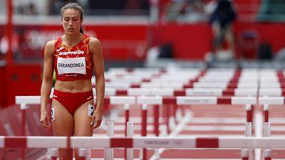 Teresa Errandonea, eliminada en primera ronda de los 100 metros vallas en Tokio 2021