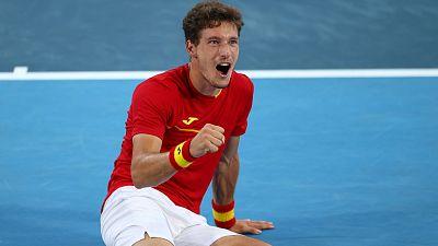 Carreño se cuelga el bronce derrotando a Djokovic