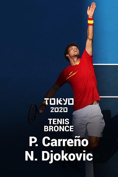 Tenis. Bronce: N. Djokovic - P. Carreño