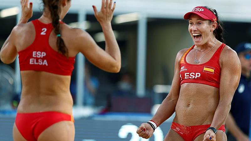 España vence a Japón y consigue llegar a octavos de final en vóley playa