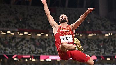 Eusebio Cáceres se mete en la final de longitud