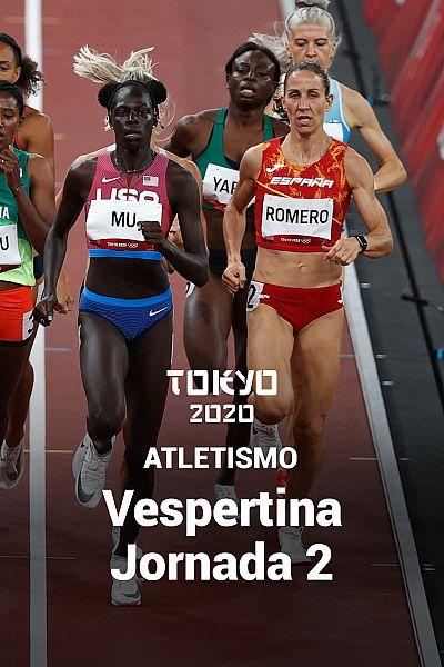 Atletismo: Sesión Vespertina. Jornada 2