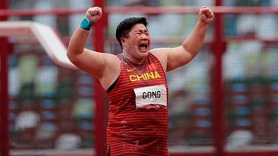 Gong consigue su primer oro olímpico con 20,58