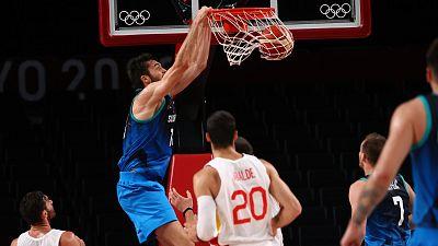 España no puede con Eslovenia en baloncesto (87-95)