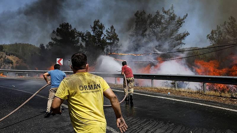 Siguen activos varios incendios forestales en el sudeste de Turquía