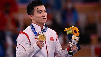 El gimnasta chino Liu Yang, campeón olímpico en anillas