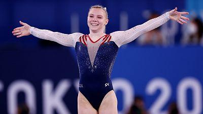 La estadounidense Jade Carey gana el oro en suelo