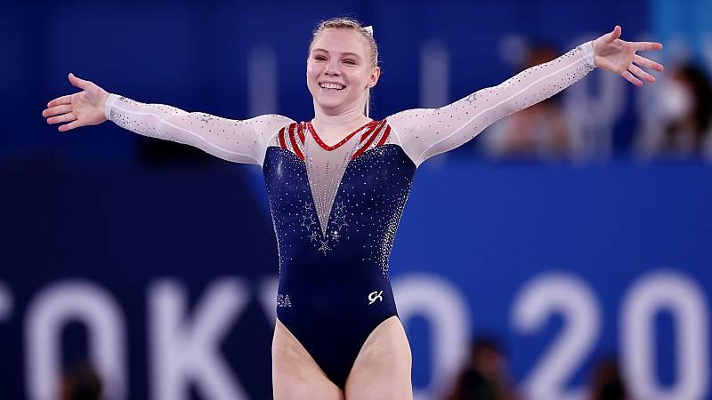La estadounidense Jade Carey gana el oro en suelo - Ver ahora