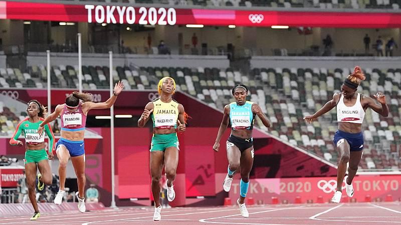 Las atletas jamaicanas dominan las semifinales del 200 - Ver ahora