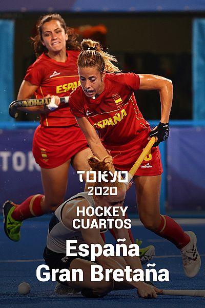 Hockey. Cuartos: España - Gran Bretaña