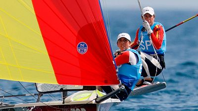 Echegoyen y Barceló se quedan a un punto de la medalla