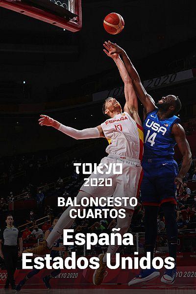 Baloncesto. Cuartos: España - EEUU