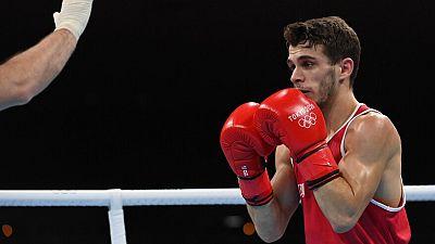 Gabriel Escobar se queda sin medalla al caer ante Bibossinov