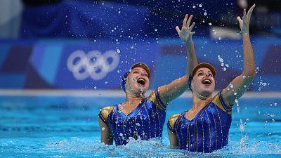 Rutina técnica del dúo español de natación artística