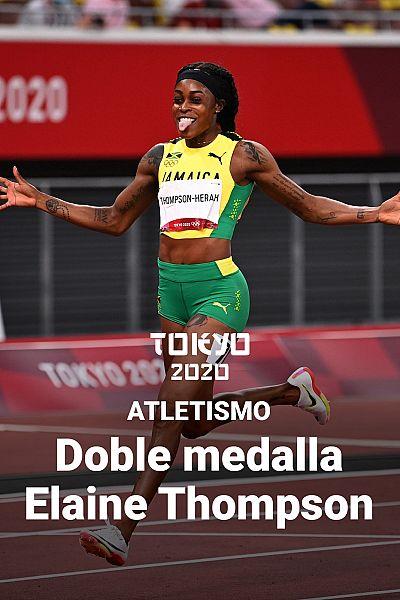Elaine Thompson gana el oro en los 200 metros