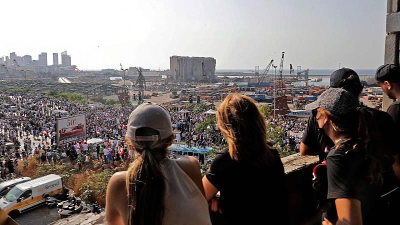 Los ciudadanos de Beirut exigen justicia un año después de la explosión
