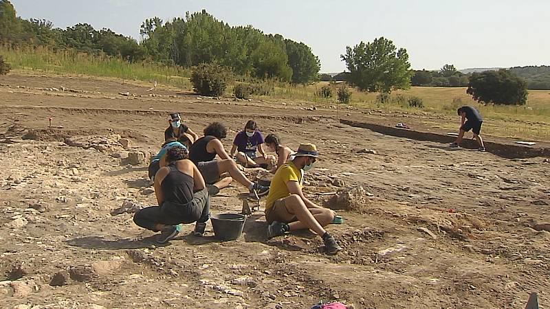 Yacimiento Noheda en Cuenca en el que trabajan jóvenes voluntarios este verano