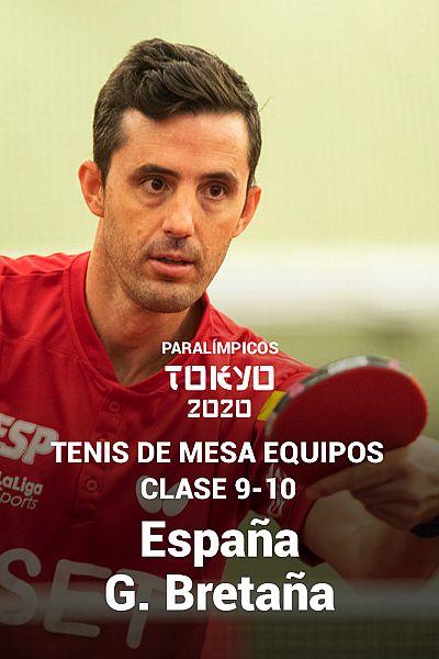 Tenis de mesa equipos: 9-10. Octavos. España - G. Bretaña