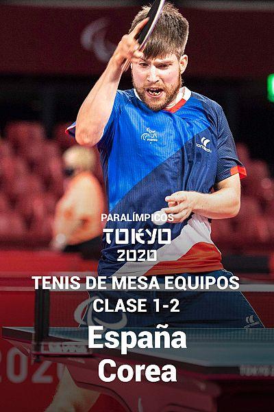 Tenis mesa por equipos: Clase 1-2. Cuartos. España - Corea