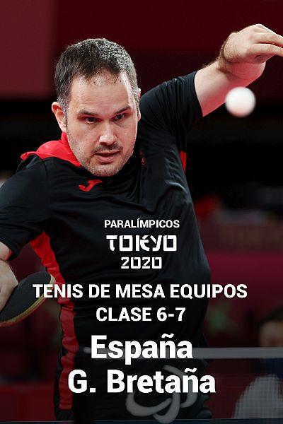 Tenis mesa equipos: 6-7. Semifinales. España - G. Bretaña