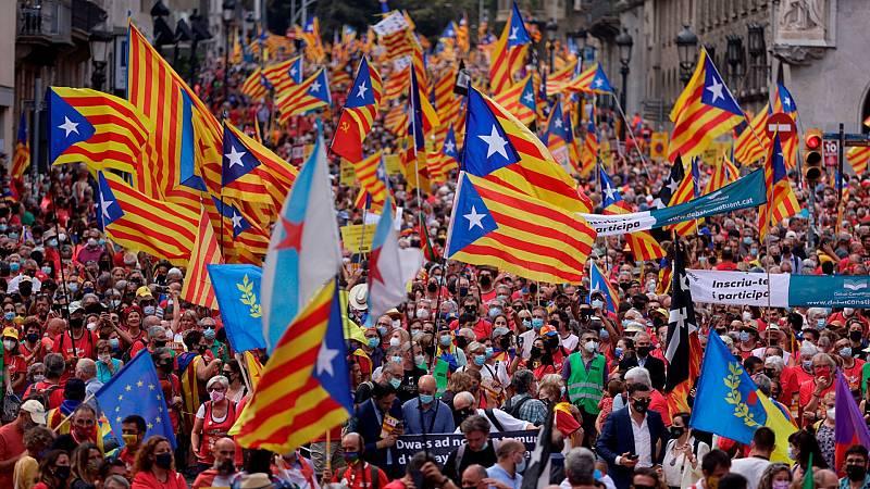 La división del independentismo se traslada a la calle en la Diada