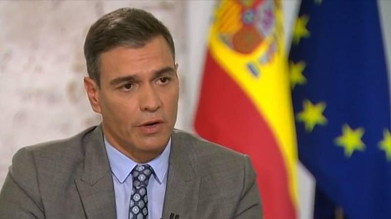 """Sánchez alaba la """"ejemplaridad"""" y la """"transparencia"""" del rey Felipe VI - Ver ahora"""