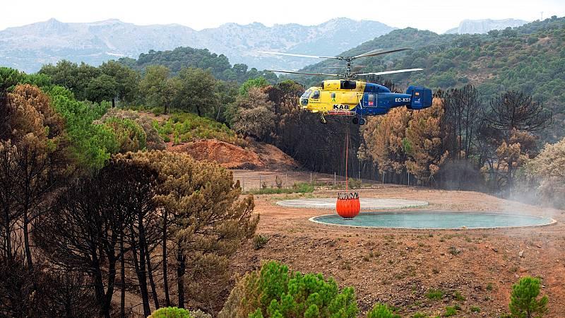 El incendio de Sierra Bermeja queda controlado y los vecinos vuelven a sus casas - Ver ahora