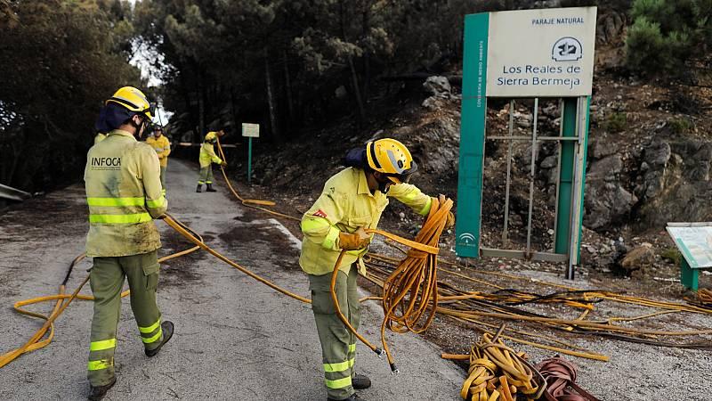 Se reconstruyen las primeras actuaciones de los bomberos para averiguar las causas del incendio de Sierra Bermeja