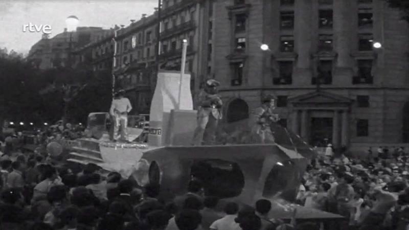 Arxiu TVE Catalunya - Panorama de Actualidad - Cavalcada de les Festes de la Mercè del 1968