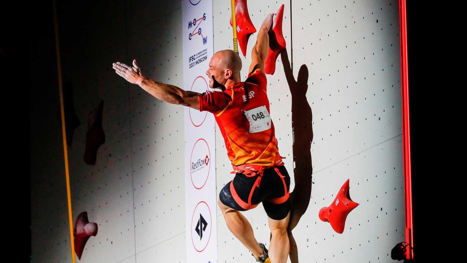 Erik Noya, subcampeón del mundo de velocidad en escalada
