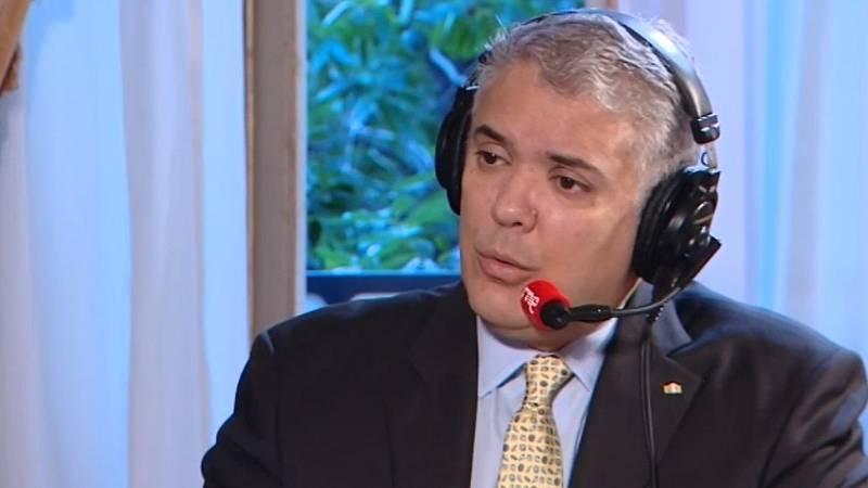 """Iván Duque, en RNE: Cuando enfrentamos las protestas en Colombia """"hubo bastante tergiversación"""""""