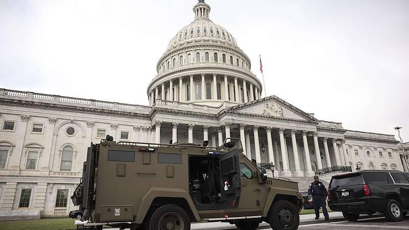 Amplio despliegue policial en Washington ante una marcha a favor de los asaltantes del Capitolio