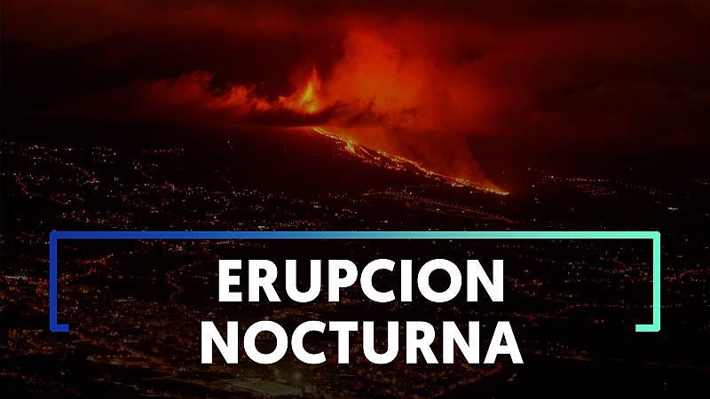 Las mejores fotos de una noche encendida por la erupción del volcán de la Cumbre Vieja en isla canaria de La Palma