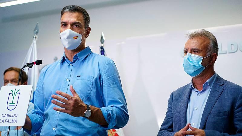 """Sánchez avanza que el Gobierno ha """"empezado a dar los pasos"""" para declarar La Palma """"zona de emergencia"""""""