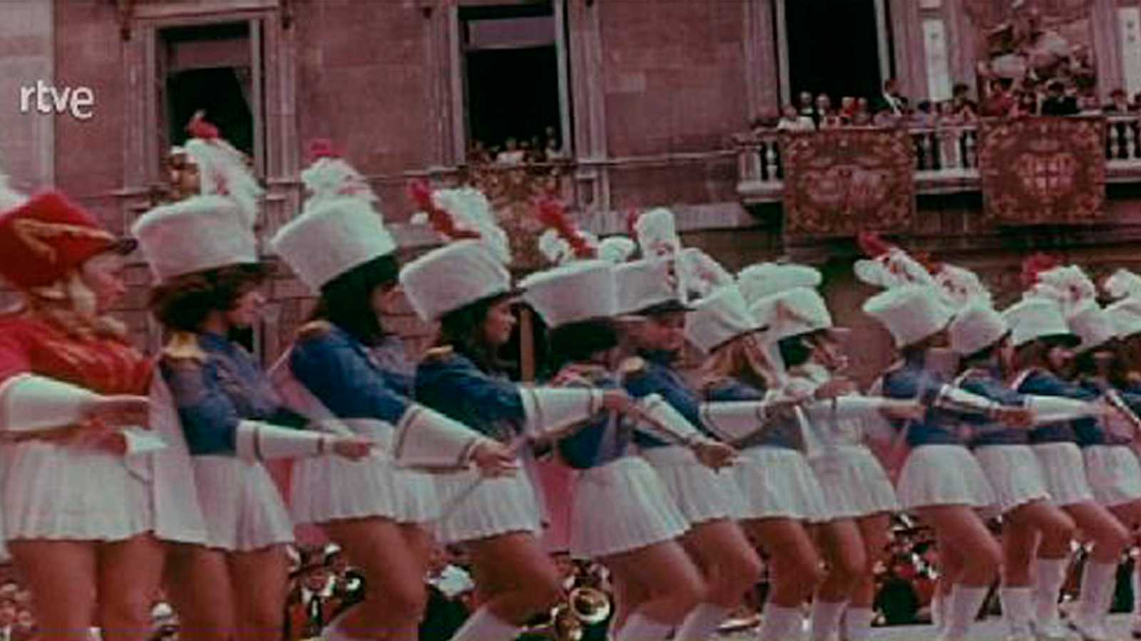 Arxiu TVE Catalunya - Les 'Majorettes' a les Festes de la Mercè del 1968