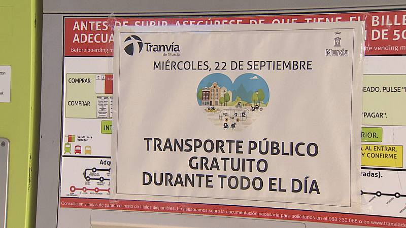 Transporte urbano gratuito en toda la región para conmemorar el Día Mundial sin coches