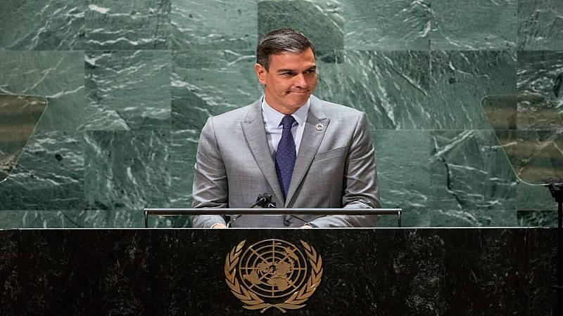 """Sánchez advierte ante la ONU que la democracia en el mundo """"está amenazada"""""""