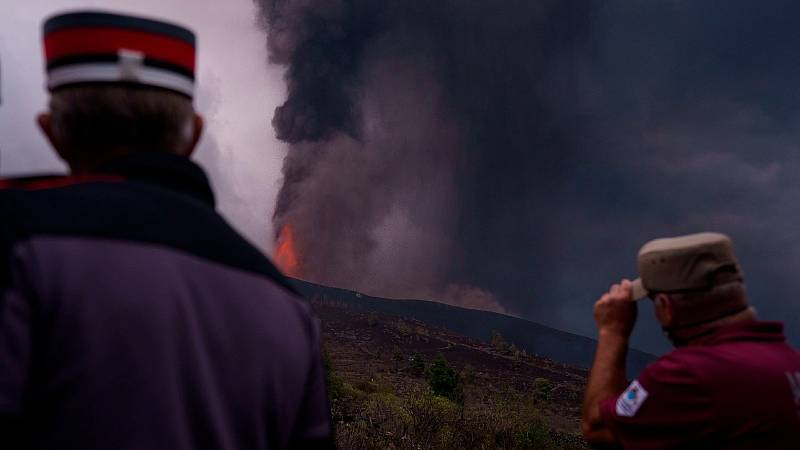 El volcán transforma el paisaje de La Palma