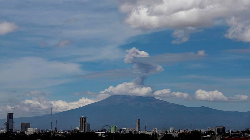 El pueblo mexicano de Xalitzintla no pierde de vista al volcán Popocatépetl