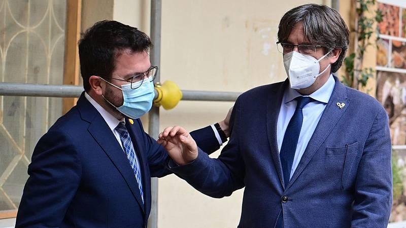 """Aragonès respalda a Puigdemont en Cerdeña e insiste en denunciar la """"represión"""""""