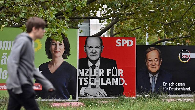 El SPD aventaja ligeramente a los conservadores en Alemania, según las primeras proyecciones