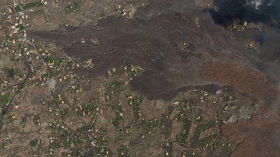 El antes y el después del barrio El Paraíso en la Palma tras el paso de la lava volcánica