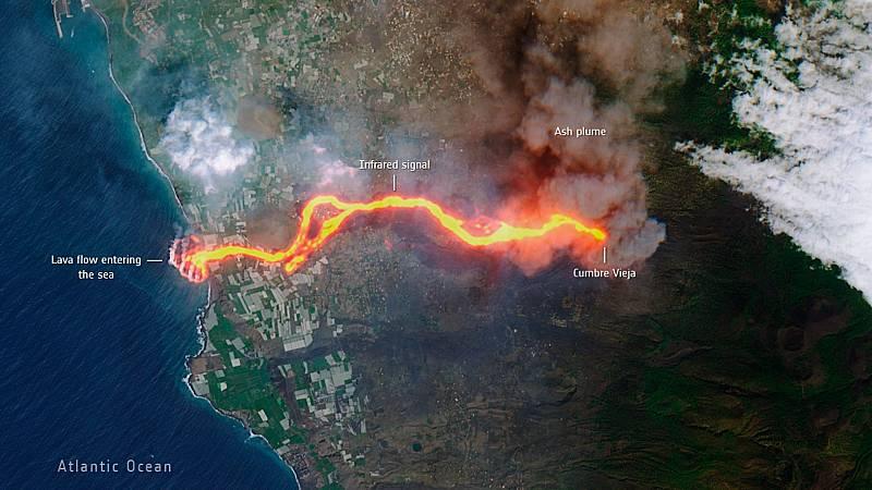 La erupción volcánica está transformando el paisaje de La Palma