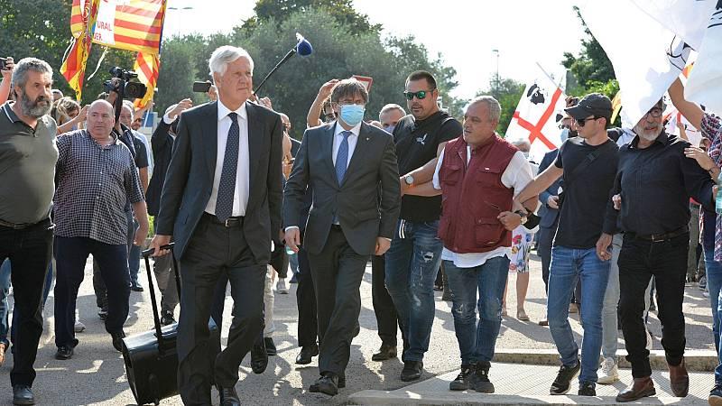Puigdemont llega al tribunal de Cerdeña que decidirá sobre su posible entrega a España