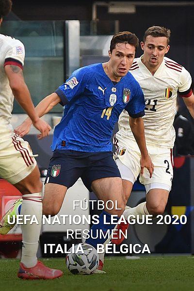 Resumen y goles del Italia 2-1 Bélgica de la Liga de Naciones